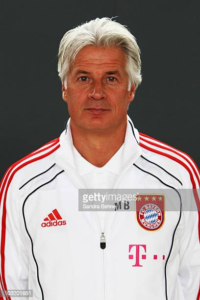 Talent scout Marcel Bout poses during the FC Bayern Muenchen team presentation at Bayern's training ground Saebener Strasse on August 2, 2010 in...