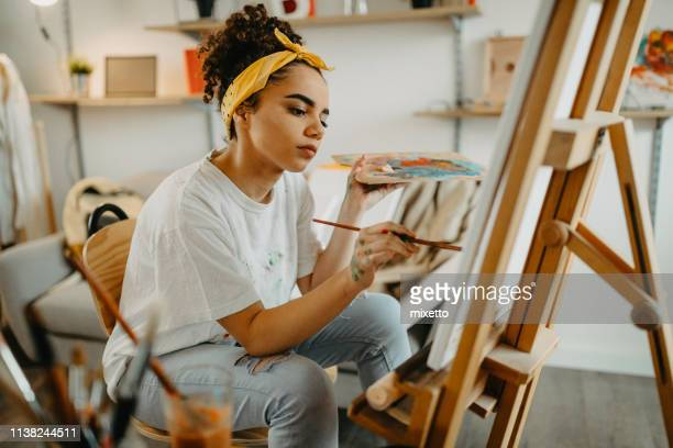 talented girl - art and craft stock pictures, royalty-free photos & images