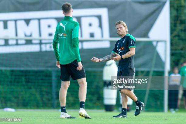 Talentmanager Eugen Polanski of Borussia Moenchengladbach looks on during day 3 of the pre-season summer training camp of Borussia Moenchengladbach...