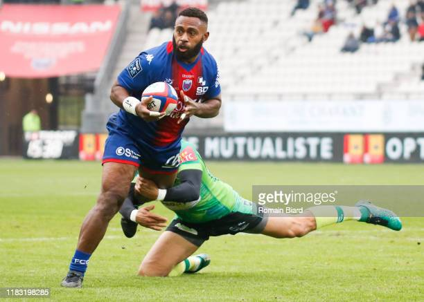 Taleta TUPUOLA of Grenoble during the Pro D2 match between FC Grenoble Rugby and US Montauban on November 17, 2019 in Grenoble, France.