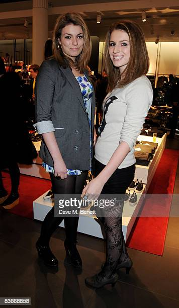 Tali and Lola Lennox attend the VIP preview of the new Comme Des Garcons collection for HM at HM Regent Street on November 12 2008 in London England