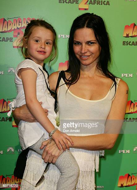 Tali Jatali and her daughter Jaja arrive for the Australian premiere of `Madagascar Escape 2 Africa' at the State Theatre on November 17 2008 in...