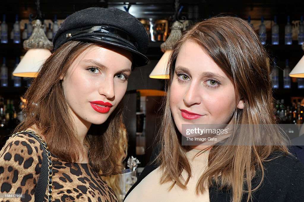 Tali Lennox (L) and Cassie Coan attend the ASMALLWORLD Champagne Diamond Apero at the Gstaad Palace Hotel on December 14, 2012 in Gstaad, Switzerland.
