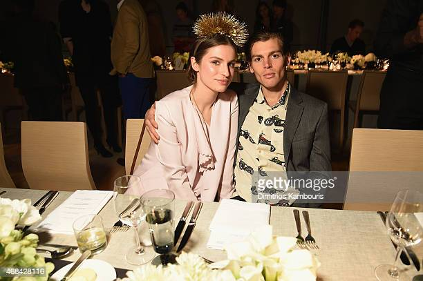 Tali Lennox and Ian Jones attend Audi's Celebration of partnership with the Whitney Museum on April 2 2015 in New York City