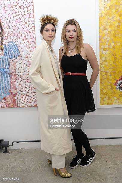 Tali Lennox and Lola Fruchtmann attend the Tali Lennox Exhibition Opening Reception at Catherine Ahnell Gallery on March 18 2015 in New York City