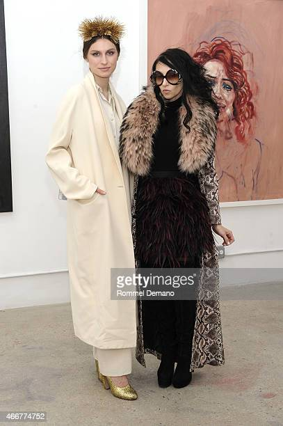 Tali Lennox and Stacey Bendet attend the Tali Lennox Exhibition Opening Reception at Catherine Ahnell Gallery on March 18 2015 in New York City