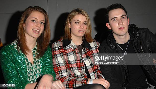 Tali Lennox Lola Lennox and guest attend the On|Off London Fashion Week a/w 2009 Front Row on February 23 2009 in London England