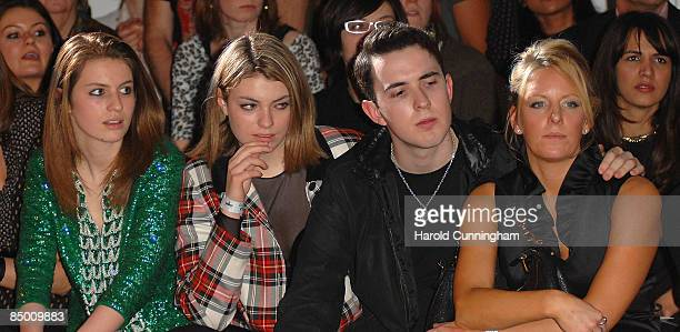 Tali Lennox Lola Lennox and guests attend the On|Off London Fashion Week a/w 2009 Front Row on February 23 2009 in London England