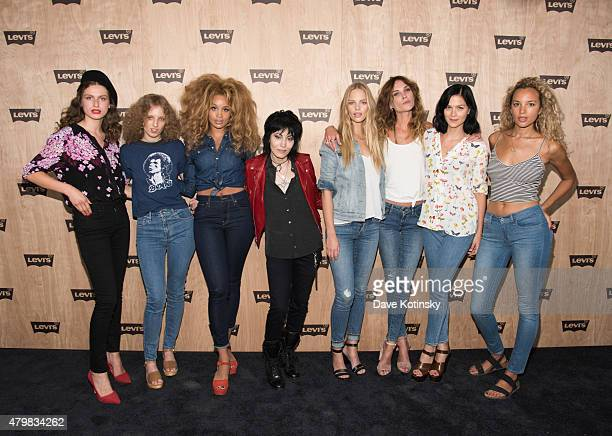 Tali Lennox Petra Collins Jillian Hervey Joan Jett Marloes Horst Erin Wasson Leigh Lezark and Phoebe CollingsJames attends the Levi's Women's...