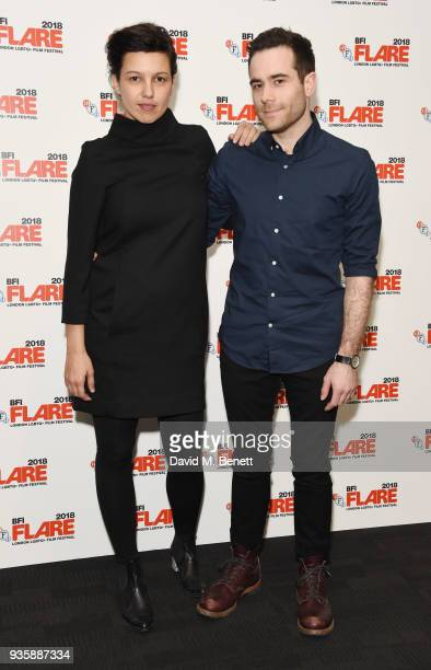 Tali Shalom and Joe Barton attend the BFI Flare London LGBTQ Film Festival Opening Night Gala screening of 'My Days Of Mercy' at BFI Southbank on...