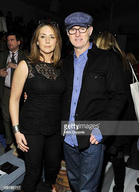 Talia Balsam and actor John Slattery attend the Nanette Lepore Fall 2011 fashion show during MercedesBenz Fashion Week at The Stage at Lincoln Center...