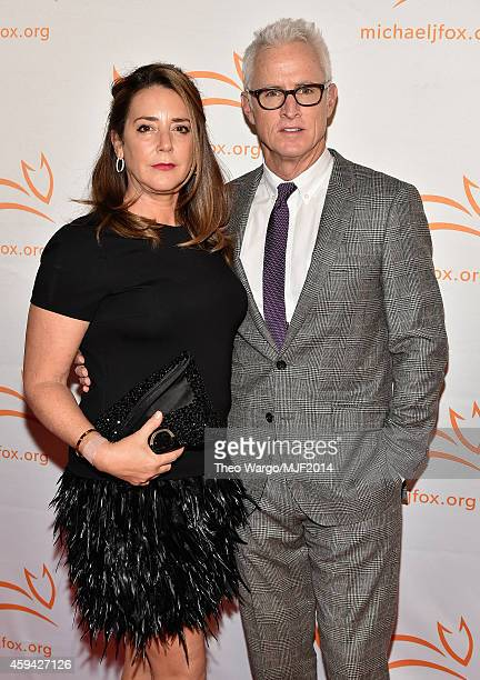 Talia Balsam and John Slattery attend 2014 A Funny Thing Happened On The Way To Cure Parkinson's at The Waldorf=Astoria on November 22 2014 in New...