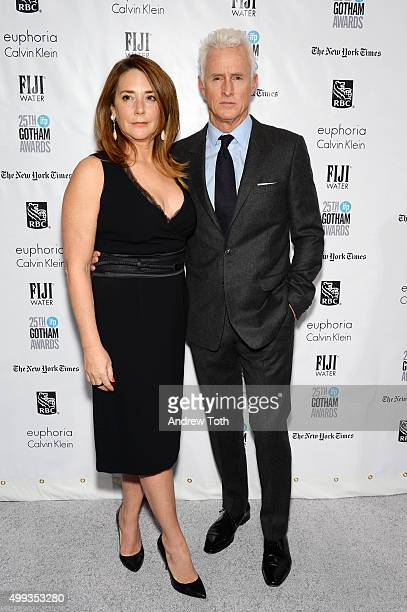 Talia Balsam and John Slattery attend the 25th annual Gotham Independent Film Awards at Cipriani Wall Street on November 30 2015 in New York City