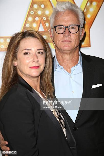 Talia Balsam and John Slattery attend the Broadway Opening Night Performance of 'It's Only A Play' at the Gerald Schoenfeld Theatre on October 9 2014...