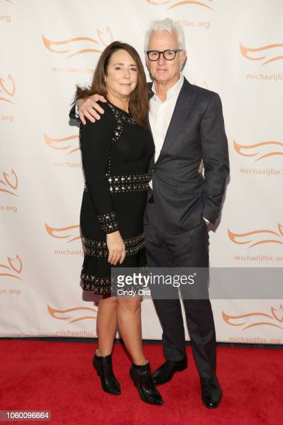 Talia Balsam and John Slattery on the red carpet of A Funny Thing Happened On The Way To Cure Parkinson's benefitting The Michael J Fox Foundation at...