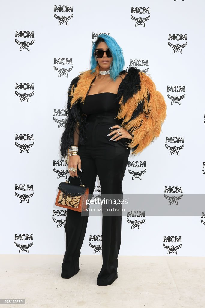 Talia Coles attends the MCM Fashion Show Spring/Summer 2019 during the 94th Pitti Immagine Uomo on June 13, 2018 in Florence, Italy.