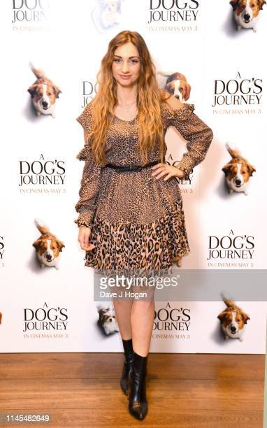 Talia Dean attends a gala screening of A Dog's Journey at The Soho Hotel on April 27 2019 in London England