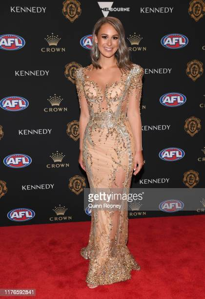 Talia Demarco arrives ahead of the 2019 Brownlow Medal at Crown Palladium on September 23 2019 in Melbourne Australia