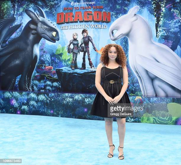 Talia Jackson arrives at Universal Pictures And DreamWorks Animation Premiere Of How To Train Your Dragon The Hidden World at Regency Village Theatre...
