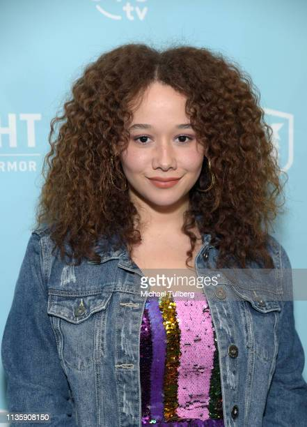 Talia Jackson attends a special Los Angeles screening of BYUtv's new series Dwight In Shining Armor at Pacific Theatres at The Grove on March 14 2019...