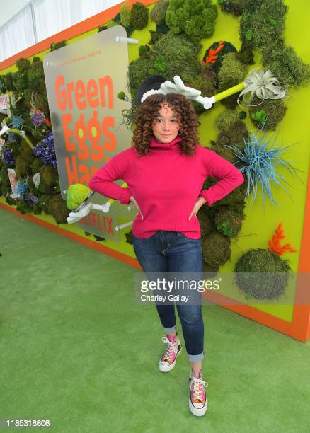 Talia Jackson attends Netflix 'Green Eggs Ham' Los Angeles Premiere at Post 43 on November 03 2019 in Los Angeles California