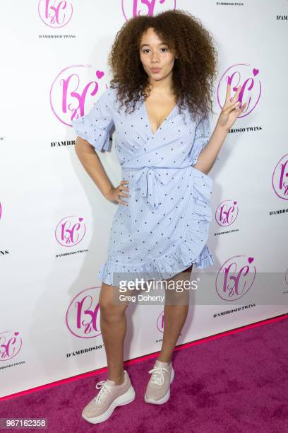 Talia Jackson attends the Bianca And Chiara D'Ambrosio Celebrate Their 13th Birthday Party at The Beverly Hilton Hotel on June 3 2018 in Beverly...