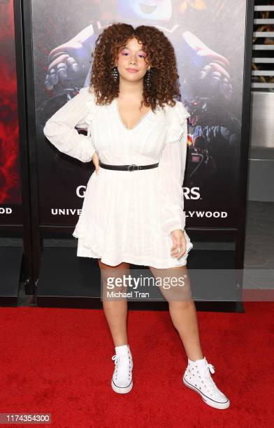 Talia Jackson attends the opening night of Universal Studios' Halloween Horror Nights held at Universal Studios Hollywood on September 12 2019 in...