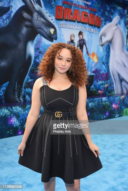 Talia Jackson attends Universal Pictures and DreamWorks Animation Premiere of How to Train Your Dragon The Hidden World at Regency Village Theatre on...