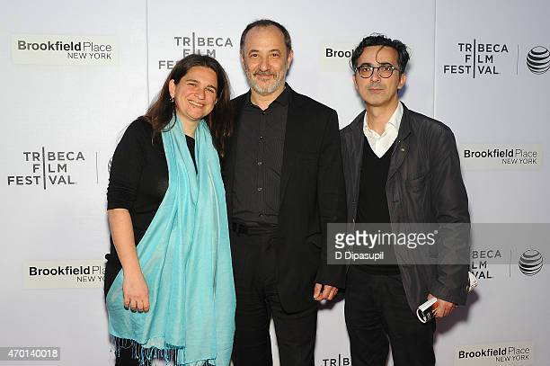 Talia Kleinhendler Stelios Mainas and Thanassis Karathanos attend the premiere of 'Wednesday 0445' during the 2015 Tribeca Film Festival at Regal...