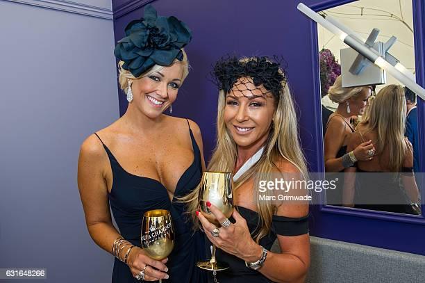 Talia Munro and Danielle Gennari attend Magic Millions Raceday on January 14 2017 in Gold Coast Australia