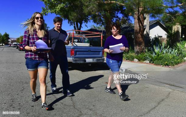 Talia Osteen Ari Posner and Becky Edwards three first time volunteers who became politically active following last November's US presidential...