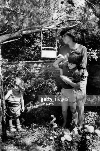 Talia Shire and her sons Matthew Shire and Jason Schwartzman July 22 1982