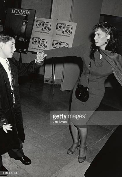 Talia Shire and son Jason during American Cinema Awards Foundation's 1991 Summer Fundraiser at Beverly Hilton Hotel in Beverly Hills California...