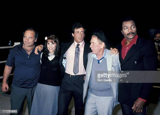 Talia Shire Burt Young Sylvester Stallone Burgess Meredith and Carl Weathers