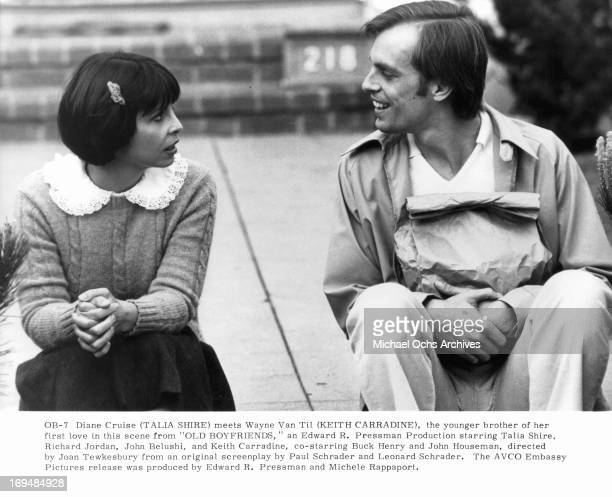 Talia Shire meets Keith Carradine in a scene from the film 'Old Boyfriends' 1979
