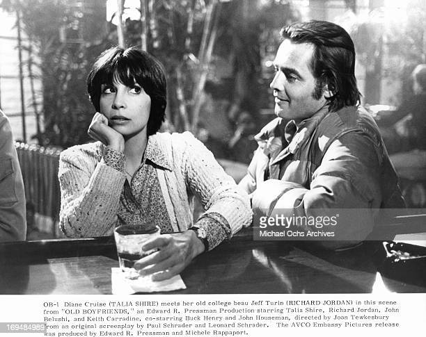 Talia Shire meets with Richard Jordan in a scene from the film 'Old Boyfriends' 1979