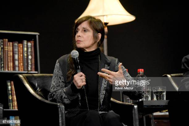 Talia Shire speaks onstage during the panel for The Godfather 45th Anniversary Screening during 2017 Tribeca Film Festival closing night at Radio...