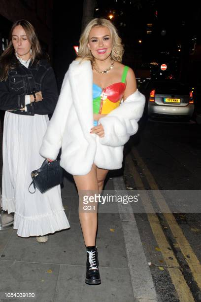 Talia Storm seen arriving at Hallowzeem Party in Shoreditch on October 26 2018 in London England