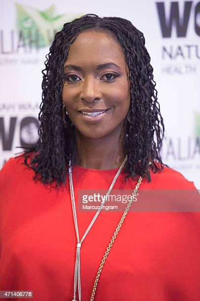 Taliah Waajid attends Day 2 of the 18th Annual Taliah Waajid World Natural Hair Health Beauty Show at Georgia International Convention Center on...