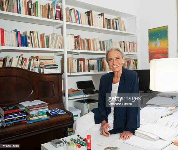 talian writer journalist and screenwriter Barbara Alberti at home in Rome