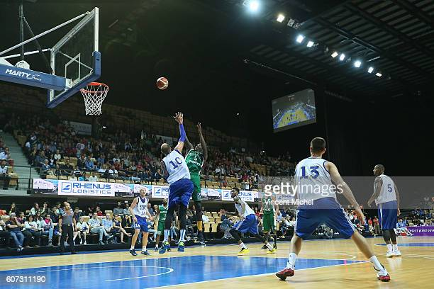 Talib Zanna of Nanterre and Dmitry Sokolov of Khimki Moscow during the match for the 3rd and 4th place between Nanterre and Khimki Moscow at...