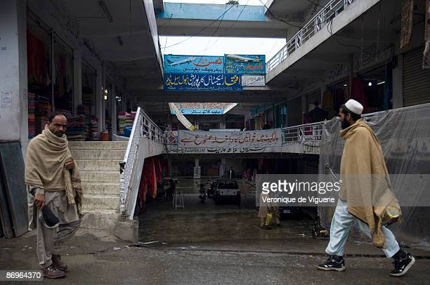 Taliban militants have forbidden access to Tchina market for women hanging a white banner which states in arabic no access to women March 31 2009 in...