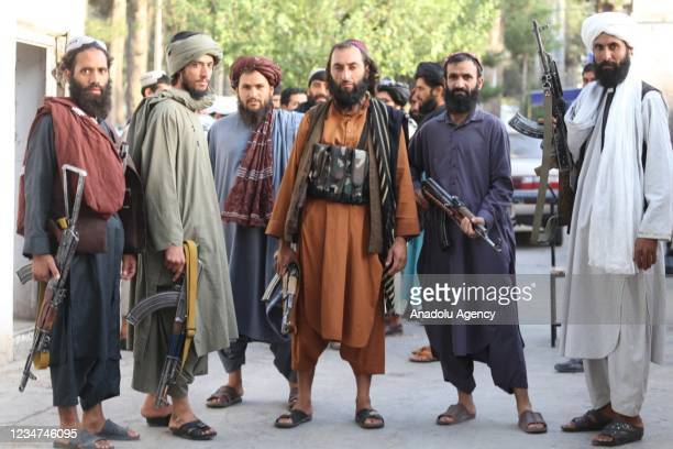 Taliban patrol in Herat city after took control in Herat, Afghanistan, on August 18, 2021 as Taliban take control of Afghanistan after 20 years.