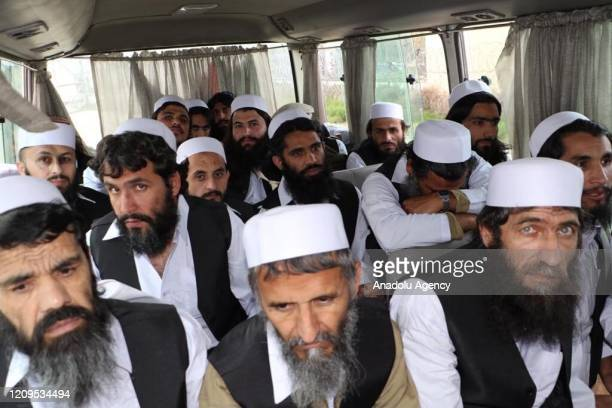 Taliban prisoners are seen after being released in Kabul, Afghanistan on April 9, 2020. The Afghan government released 100 Taliban prisoners...