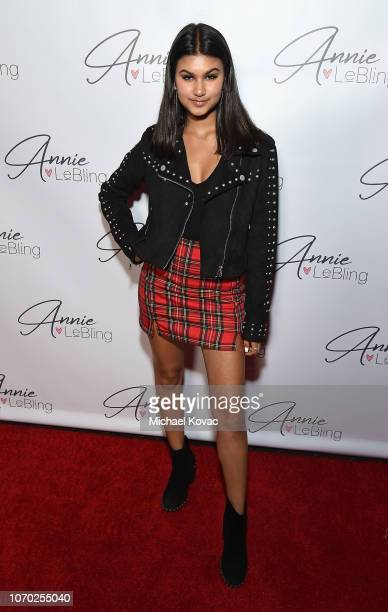 Talin Silva attends the Annie LeBling presents Annie LeBlanc Performance Pop Up Shop on December 8 2018 in Los Angeles California