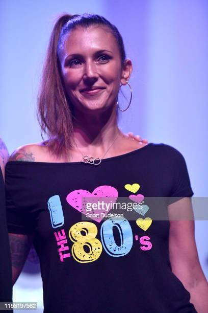 Talinda Bennington onstage during Charity Bomb Presents Strange 80's 3D benefit concert at The Fonda Theatre on June 01, 2019 in Los Angeles,...