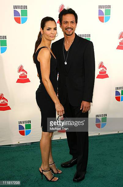 Talisa Soto and actor Benjamin Bratt arrive to the 8th Annual Latin GRAMMY Awards at Mandalay Bay on November 8 2007 in Las Vegas Nevada