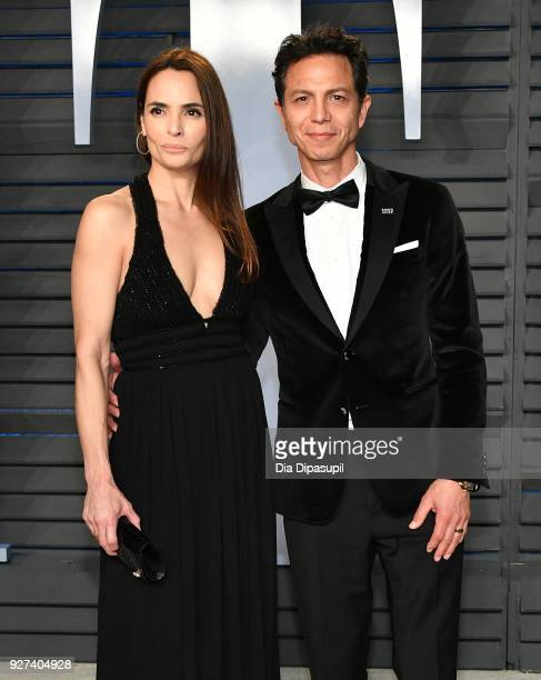 Talisa Soto and Benjamin Bratt attend the 2018 Vanity Fair Oscar Party hosted by Radhika Jones at Wallis Annenberg Center for the Performing Arts on...