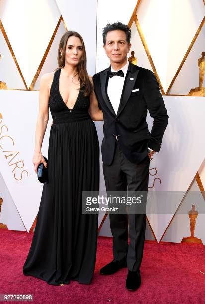 Talisa Soto and Benjamin Bratt attend the 90th Annual Academy Awards at Hollywood Highland Center on March 4 2018 in Hollywood California