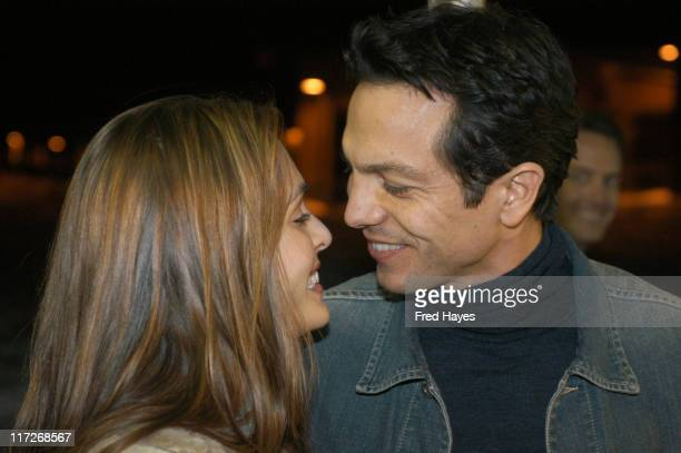 Talisa Soto and Benjamin Bratt during 2004 Sundance Film Festival The Machinist Premiere at Eccles in Park City Utah United States